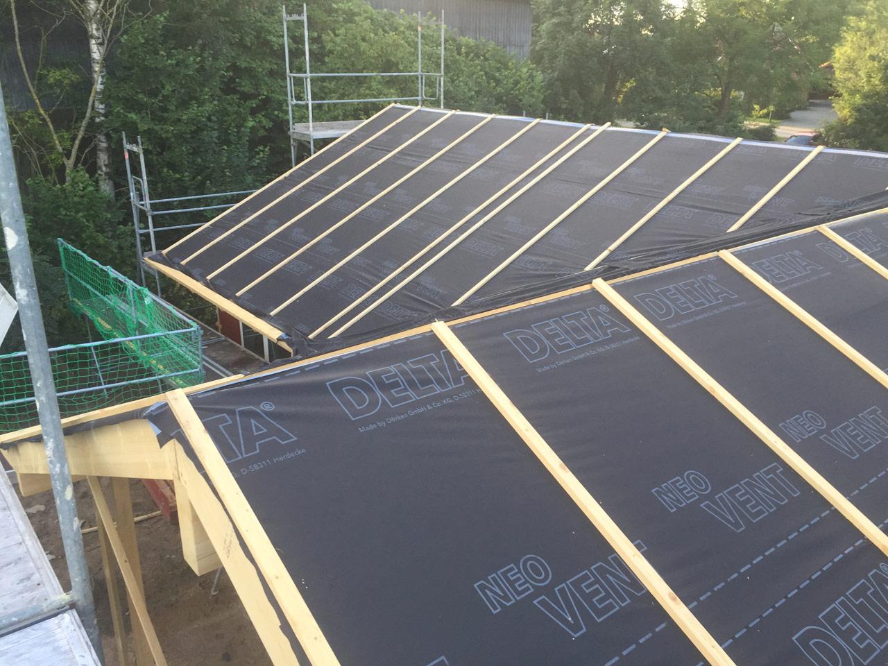 Tag 10 – Rohbau Dach